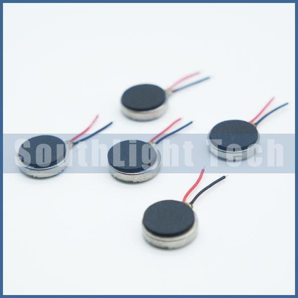 Wholesale 100% Original New 3V Cell phone Vibrator 10mm X 2mm Coin Micro Motor 1020 Mini Vibrating Toy Vibration With Leads Wire 10*2mm