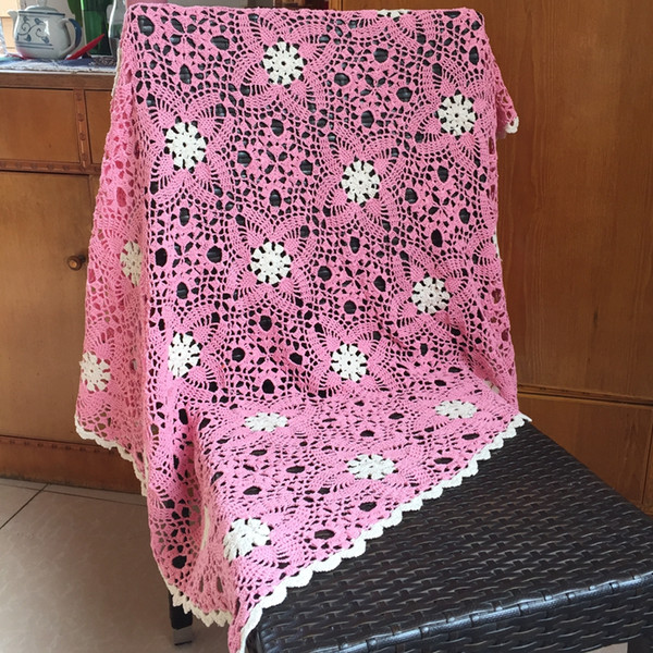 Mantas afganas de ganchillo para ropa de cama de vivero Mantas de ganchillo de mano que hacen punto de algodón Idea de regalo recién nacida artesanal boutique de la tienda