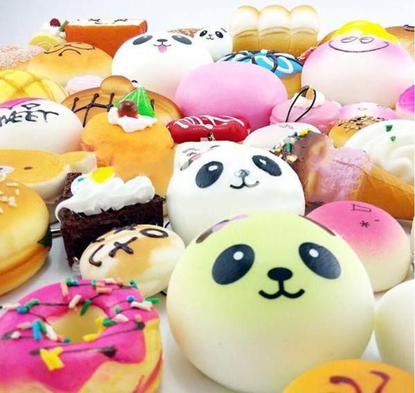 top popular Newest Kawaii Squishy Rilakkuma Donut Soft Squishies Cute Phone Straps Bag Charms Slow Rising Squishies Jumbo Buns Phone Charms Free DHL 2021