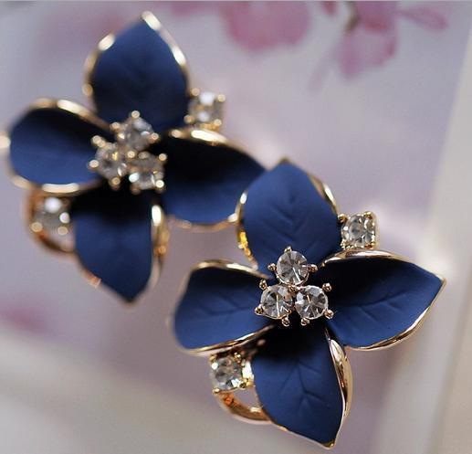 top popular New! Flower Earring with different colors, Fashion and simple style, no fade, Free Shipping and hign quality 2019
