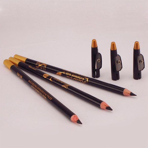 Wholesale- High Quality Women Beauty Tools Long Excellence Eyebrow Eye Liner Pencil Brown or Black With