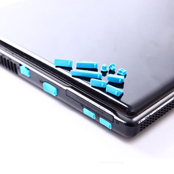 Atacado-13Pcs / set Silicone Anti Poeira Plug Cover Stopper Laptop poeira plug laptop à prova de poeira usb dust plug Acessórios de Computador