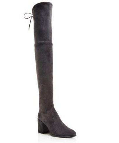 fashionville*u674 40 genuine leather stretch tie land boots thick heel over the knees black greysexy s w fashion women burgundy vogue brand
