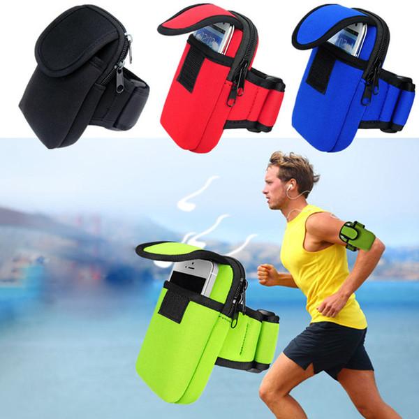 Sport arm band fall reißverschluss fitness laufen arm band tasche für iphone 7 6 6 s plus 5 s gym gürteltasche jogging telefon taschen