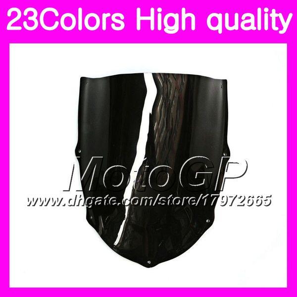 23Colors Windscreen For Aprilia RS4 125 RS125 99 00 01 02 03 05 RS 125 1999 2000 2001 2005 Chrome Black GPear Smoke Windshield