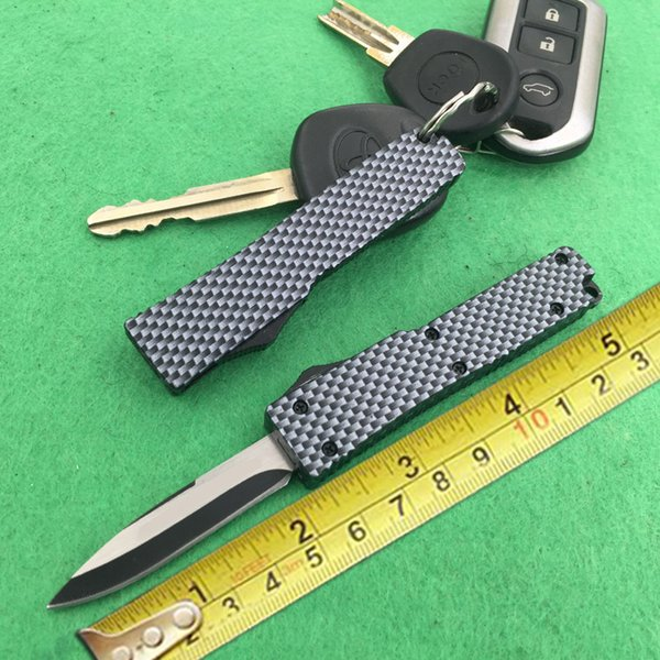 MIC Factory Direct MINI Carbon Schlüssel Schnalle Messer Geschenk Messer Aluminium T6 Kohlefaser 440 Klinge (2 Mode) EPacket Freies Verschiffen