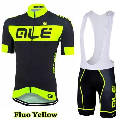 best selling Flou Yellow Sportswear Team Cycling clothing and bib shorts sets Breathable Cycling wear Ropa Ciclismo