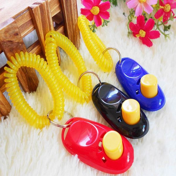 Pet Training Clicker Click and Treat Dog Pro Obedience Agility Trainer Aid Wrist Strap Button Click Blister Card Retail Package Orc