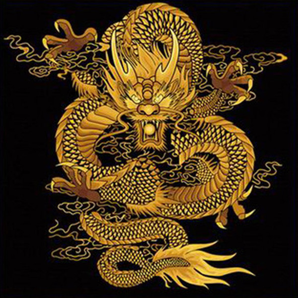 diy diamond painting-Dancing Chinese dragon inlaid pasted painting square drill fashion home decoration gift 80X80cm HWB-529