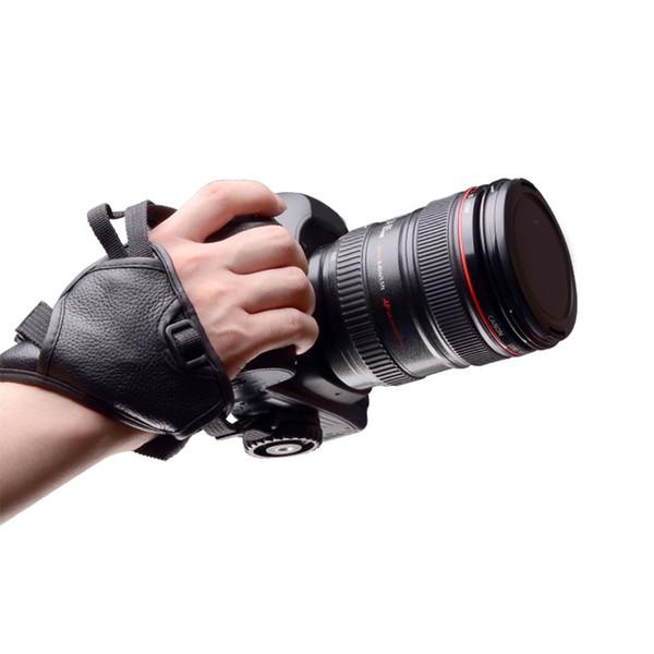 Universal non-slip Camera Wrist Hand Strap Grip PU Leather Soft belt SLR DSLR for Nikon D5500 D5300 D3300 D3200 D7100 D610 D600