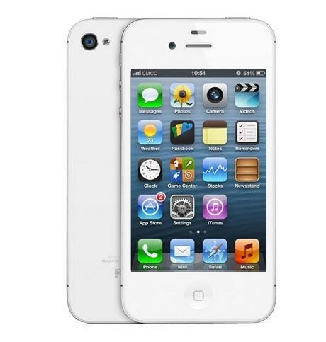 Apple iphone 4s Refurbished Unlocked 8GB/16GB/64GB ROM iOS GPS WiFi WCDMA 8MP GPRS mobile phone