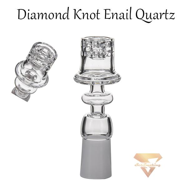 Retail Diamond Knot Enail Quartz Electric Nails Frosted Clear Joint 19.5mm Bowl for 20mm coil, banger, glass bongs water pipes dab