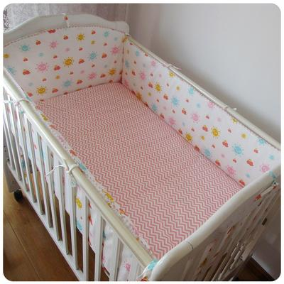 Promotion! 6PCS Crib Baby bedding set baby bed set Children (bumpers+sheet+pillow cover)