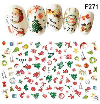Christmas Stickers.New Arrival Nail Stickers Christmas Stickers Red White Green Colors As A Gife For Lovely Girl Sticker Nails Nail Art Decals From Dadabibi 13 2