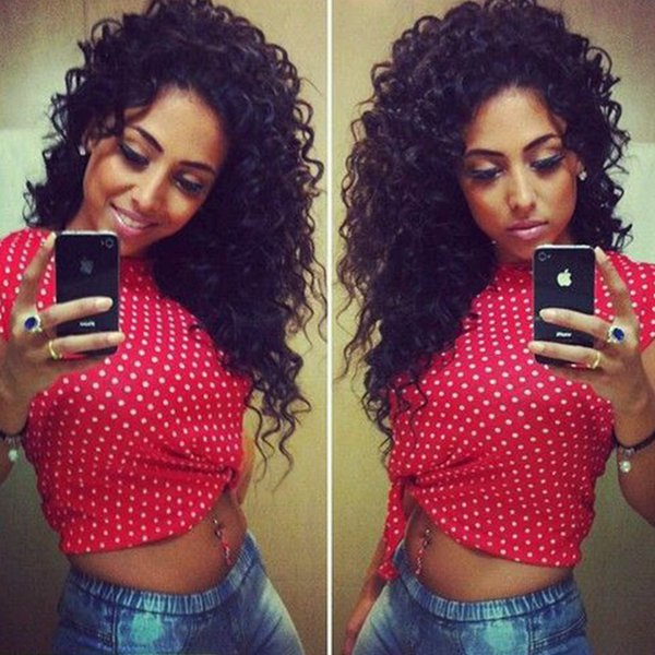 7A Glueless Full Lace Wigs Deep Curly Lace Front Wigs Brazilian Virgin Hair Full Lace Human Hair Wigs For Black Women