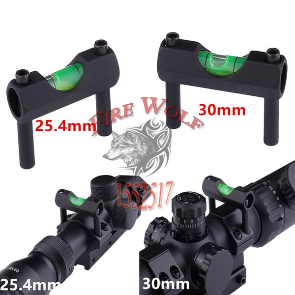 "Rifle Scope Laser Bubble Spirit Level For 30mm or 25.4mm"" Rifle Airsoft Scope Laser Sight Ring Mount Holder Hunting Accessories"