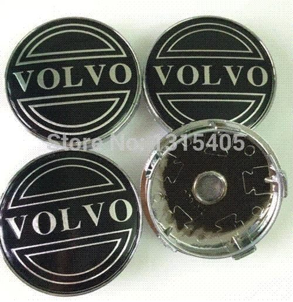Free Shipping 4pcs/set 60MM Diameter Black Wheel Hub Cap Center Cap Fit for VOLVO C30 S40 S60 V50 V70 XC60 XC90
