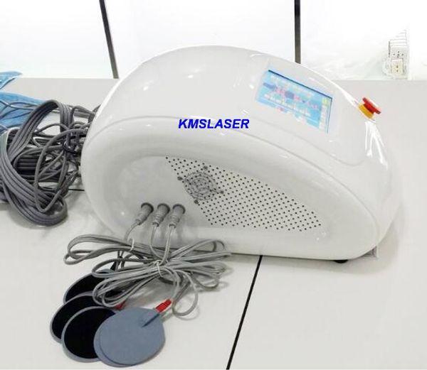 Novo pano azul 3in1 Pressoterapia Extrema gordura Infravermelho dissolução de pressão de ar drenagem linfática EMS massageador Emagrecimento perda de peso dispositivo