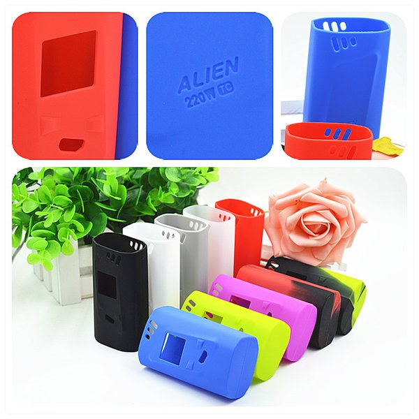 Alien 220w Silicone Case Colorful Rubber Sleeve Protective Cover Skin For SmokTech Alien 220 TC Box Mod Vape