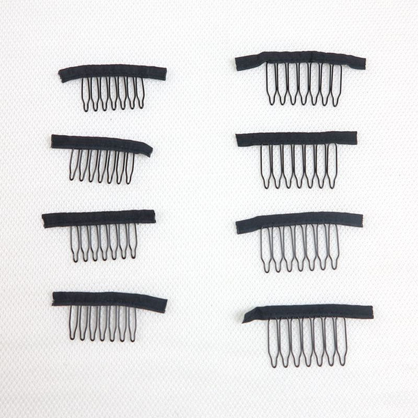 top popular Wig clips Wig combs Clips 7teeth For Wig Cap and Wig Making Combs hair extensions tools 2019