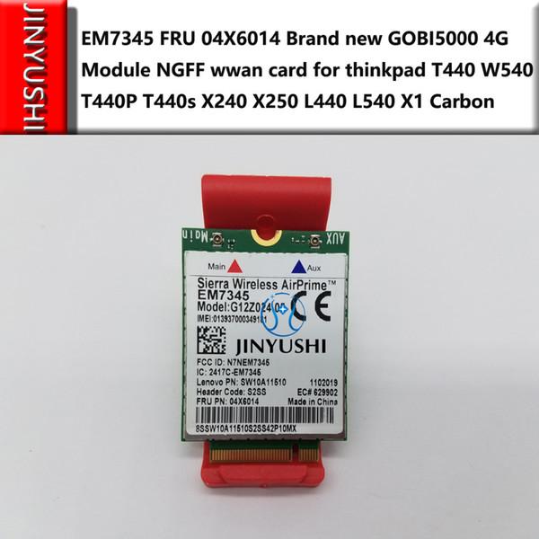 best selling Freeshipping For EM7345 FRU 04X6014 Brand new GOBI5000 4G Module NGFF wwan card for thinkpad T440 W540 T440P T440s X240 X250