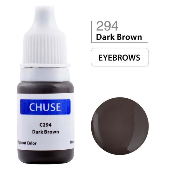 Al por mayor-CHUSE Maquillaje permanente Ink Corrector Tattoo Ink Set Pigmento Microblading para Maquiagem Definitiva 10ML Marrón oscuro C294