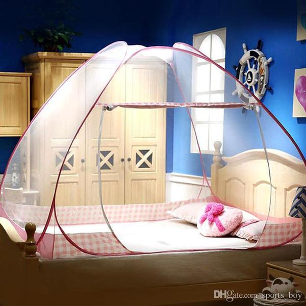Sommer Moskitonetz für Bett Tragbare Lagerung Dome Bett Vorhang Mongolische Jurte Moskitonetz Doppeltür Reißverschluss Betthimmel
