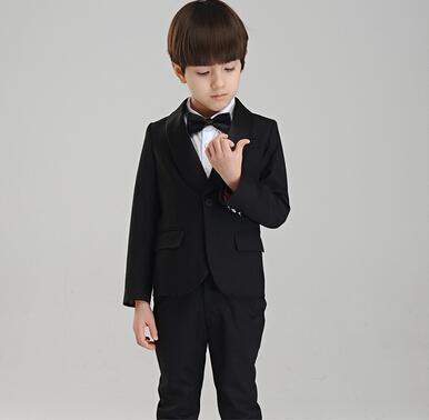 Ropa formal de los muchachos para el banquete de boda Trajes de negocios Trajes Ropa de niños Conjuntos Gentleman Traje de dos piezas para niños grandes (chaqueta + pantalones)