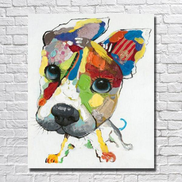 Großhandel Moderne Hundegemälde Auf Leinwand Schlafzimmer ...