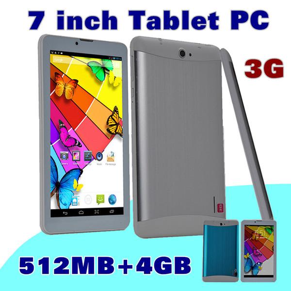 40X DHL SH 2015 дешевые 7 дюймов 3G Phablet Android 4.4 MTK6572 Двухъядерный 4 ГБ Dual SIM GPS Телефонный звонок WIFI планшетный ПК с Bluetooth EBOOK B-7PB