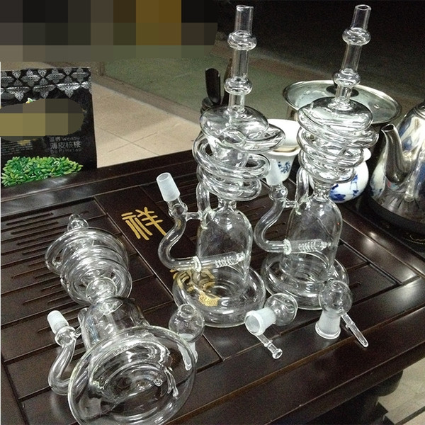 14.5mm Female Joint Bong Water Pipes Bongs For Smoking With Honeycomb Percolator 9.45 inches straight bongs