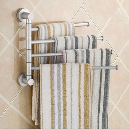 2019 Aluminium Towel Rack Swivel Bars Rotary Bar Wall Mounted Bath  Bathroom/Kitchen Towels Holder Hanger Sets Rotary Towel Rack From Eimin,  $29.85 | ...