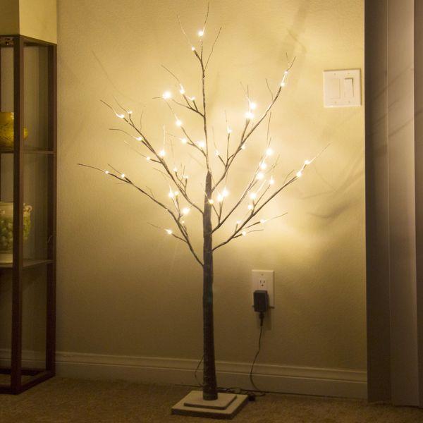4FT-LED-Luces-árbol-decorativas-Casa-Festival-Fiesta-Navidad-Boda-Blanco-blanco 4FT-LED-Luces-Árbol decorativas-Casa-Festival-Fiesta-Christm