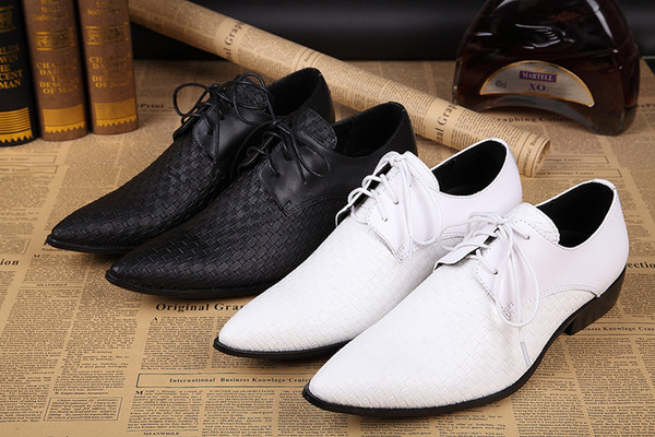 2016 White Groom Wedding Shoes Oxford Classic Italian Mens Leather Men Hommes