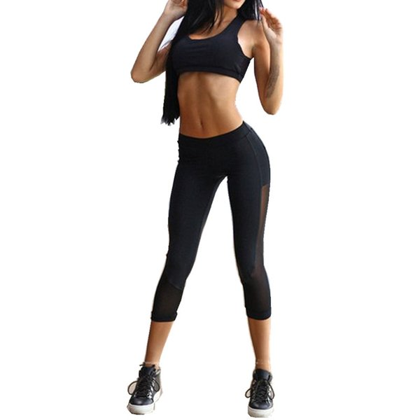 Women Yoga Sets Bra+Pants Fitness Workout Clothing And Women's Gym Sports Running Girls Slim Leggings+Tops Sport Suit For Female