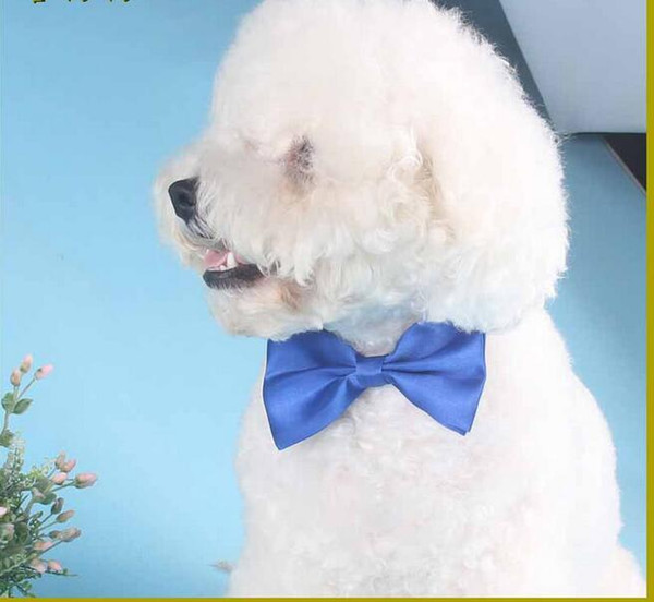 top popular Polyester Silk Pet Dog clothing Necktie Adjustable lovely Bow Ties Necktie puppy pet bows neck tie pet collars neckties 2019