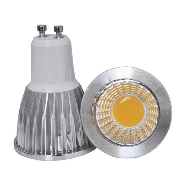 GU10 COB LED 6 W 9 W 12 W gu 10 conduziu a lâmpada Dimmable conduziu o projector AC85-265V CE / RoHS branco morno / branco fresco E27 / MR16 / GU10