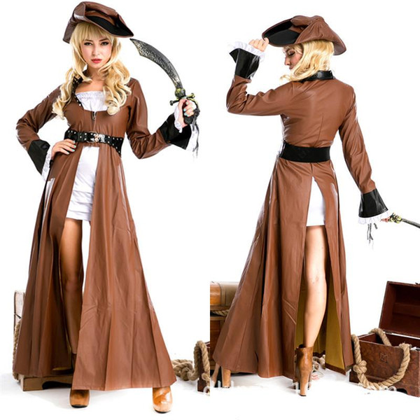 100 real shot high quality women halloween costume pirate game uniform knight role performance cosplay - High Quality Womens Halloween Costumes