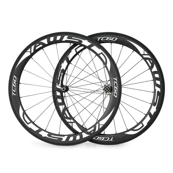 HOT sale 700C 60mm alloy carbon wheels road bicycle carbon wheel aluminium clincher road wheelset chinese bicycle V brake wheels