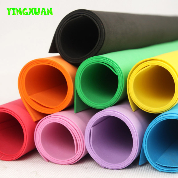 top popular Paper lotus 50*50cm 2mm EVA Foam Sheet Cosplay White Black Green Pink Color Sponge Paper DIY handcraft Materials Colorful 2019
