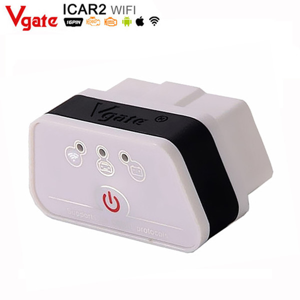 Wholesale-Vgate Wifi iCar 2 OBDII ELM327 OBD diagnostic interface for IOS iPhone iPad Android iCar2 wifi vgate OBD Diagnostic Interface