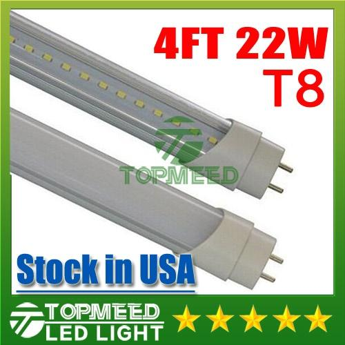 CE RoHS UL 1.2m 4ft T8 22W Led Tube Light 2400lm 110-240V Led lighting Replace Fluorescent Tube Lamp +Warranty 3 Years X50