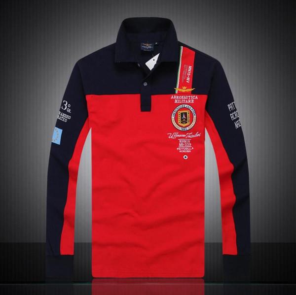 6896ca87d 7 Models aeronautica militare camisa masculina polo mens Long sleeve Polo  shirt brands Air force one