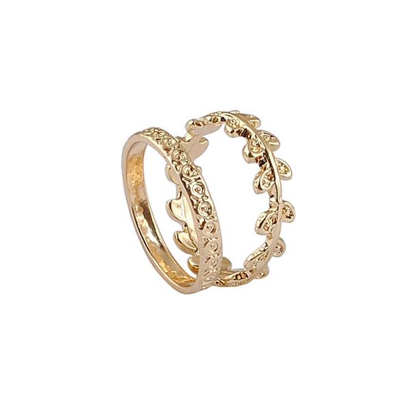 New Fashion Ladies Alloy Ring 100% Environmentally Friendly Material Gold Plating 1Set/Lot Large Drop Shipping