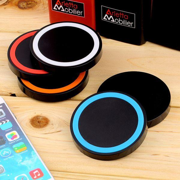 Q5 Universal Standard Qi Wireless Power Ladegerät Pad für Handy für iPhone 6 7 Samsung S6 S7 EDGE HINWEIS 5 4 3 LG G4