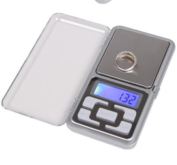 best selling Digital Scales Digital Jewelry Scale Gold Silver Coin Grain Gram Pocket Size Herb Mini Electronic backlight 100g 200g 500g fast shipment