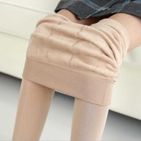Sıcak Satış Örme Kalın İnce Tayt Süper Elastik Tozluk Kadınlar Için Varış Rahat Sıcak Kış Faux Kadife Legging seksi pantolon toptan