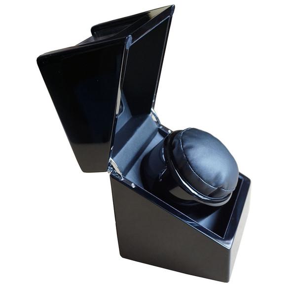 top popular Black wood+leather automatic clock watch winder box hour battery EU US UK Plug rotate movement ratato box winder brand watches accessories 2021