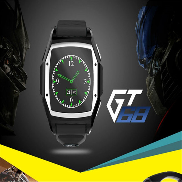 2015 Three Anti GT68 Bluetooth Smart Watch For Android iOS Apple Phone Sport Intelligent Device With GPS Compass SIM & SD Card
