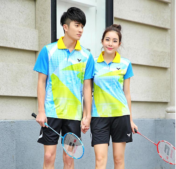 top popular New Victor Badminton wear T-shirts,Polyester Breathable quick-drying Table tennis Jersey T-shirts ,Badminton shorts and shirt M-4XL 2020